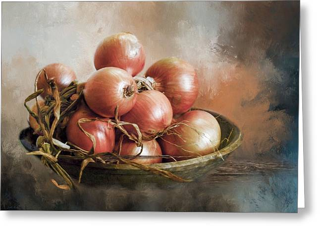 Greeting Card featuring the photograph Onions by Robin-Lee Vieira