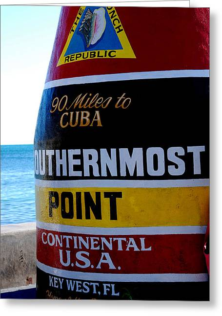 Only 90 Miles To Cuba Greeting Card