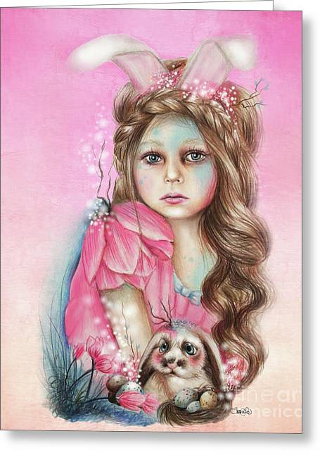 Only Friend In The World - Bunny Greeting Card by Sheena Pike