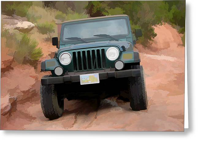 Only Jeeps Here Greeting Card