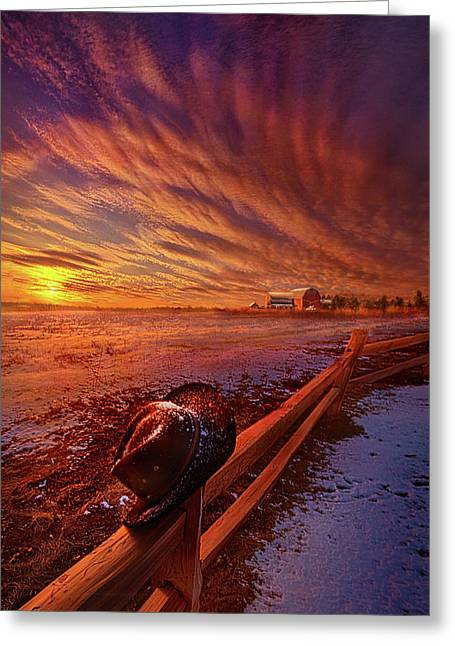 Only This Moment In Between Before And After Greeting Card by Phil Koch
