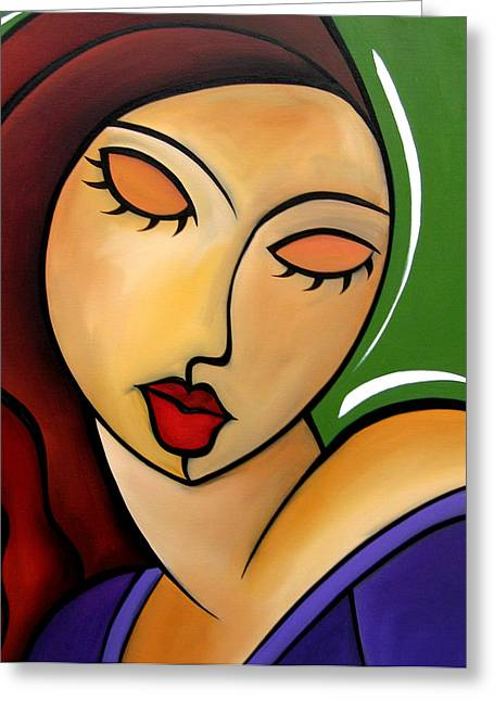 Only Time - Abstract Pop Art By Fidostudio Greeting Card