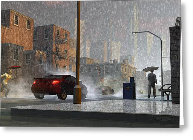 Only When It Rains Greeting Card