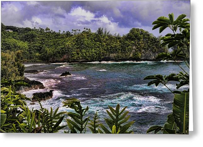 Onomea Bay Hawaii Greeting Card