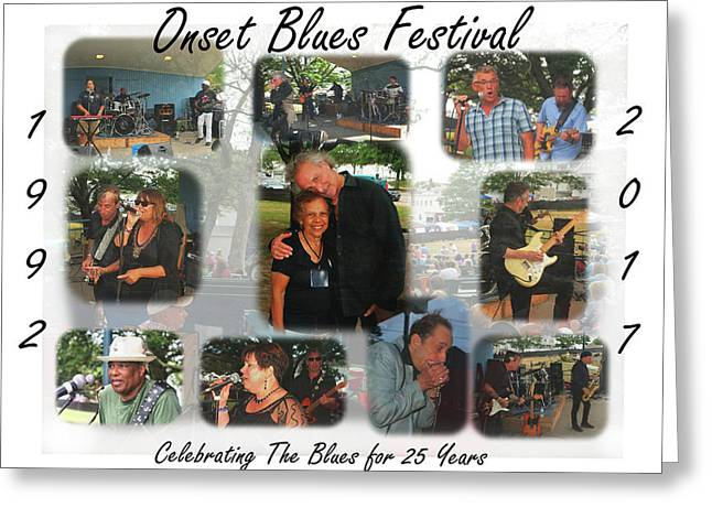 Onset Celebrates 25 Years Of Blues Greeting Card
