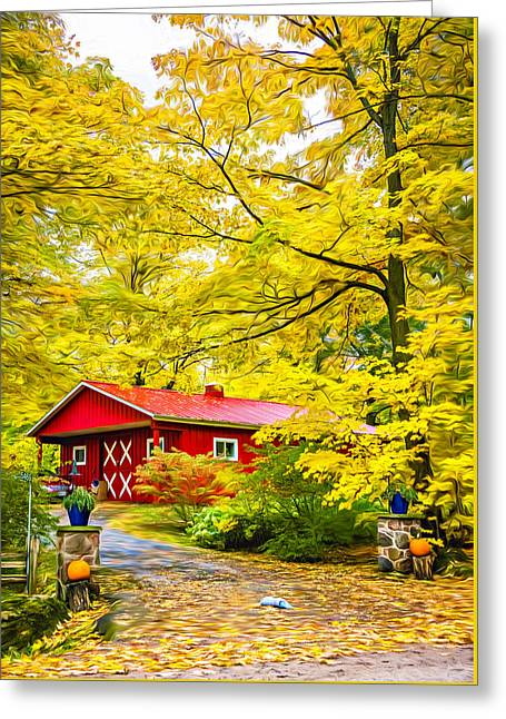 Ontario Autumn - Paint Greeting Card by Steve Harrington