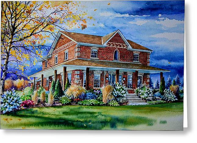 Ontario House Portrait  Greeting Card by Hanne Lore Koehler