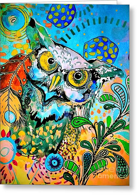Oogke Owl Greeting Card
