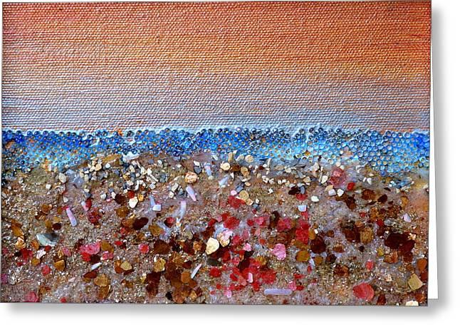 Opal Beach Greeting Card by Regina Valluzzi