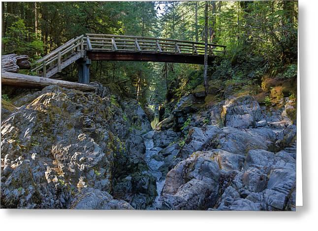 Opal Creek Bridge Greeting Card