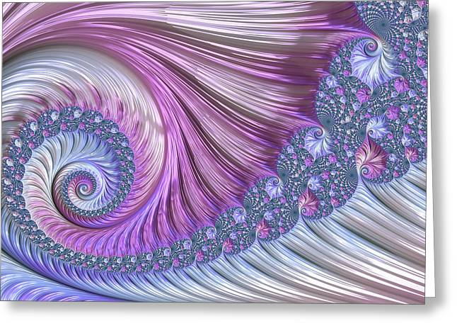 Greeting Card featuring the digital art Opal Nautilus by Susan Maxwell Schmidt