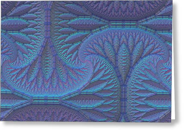 Greeting Card featuring the digital art Opalescence by Lyle Hatch