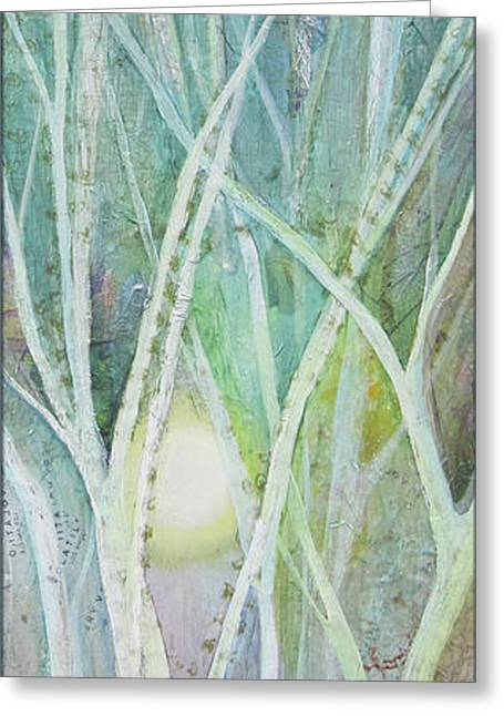 Opalescent Twilight II Greeting Card by Shadia Derbyshire