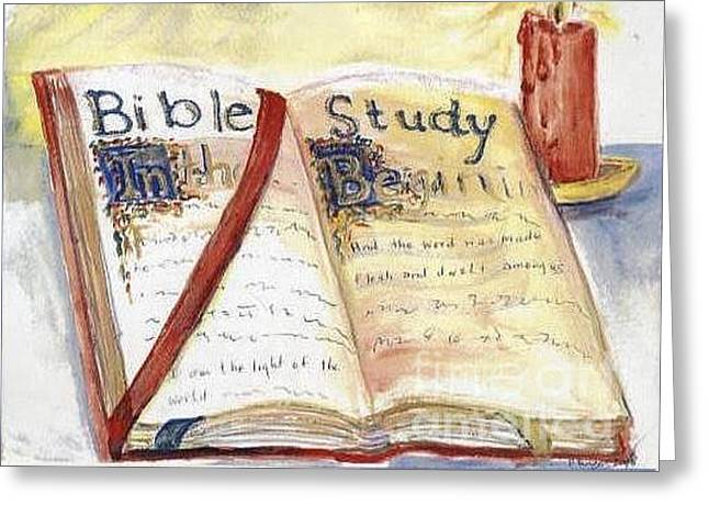 Open Bible Greeting Card by Patricia Ducher