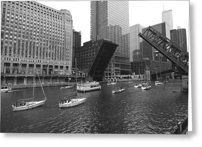 Open Bridges In Chicago Greeting Card