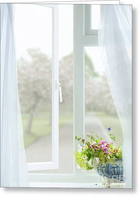 Open Country Window Greeting Card