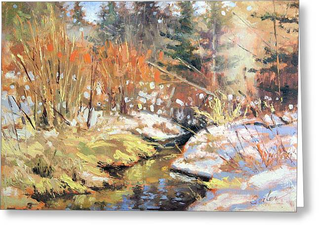 Open Creek Greeting Card by Larry Seiler