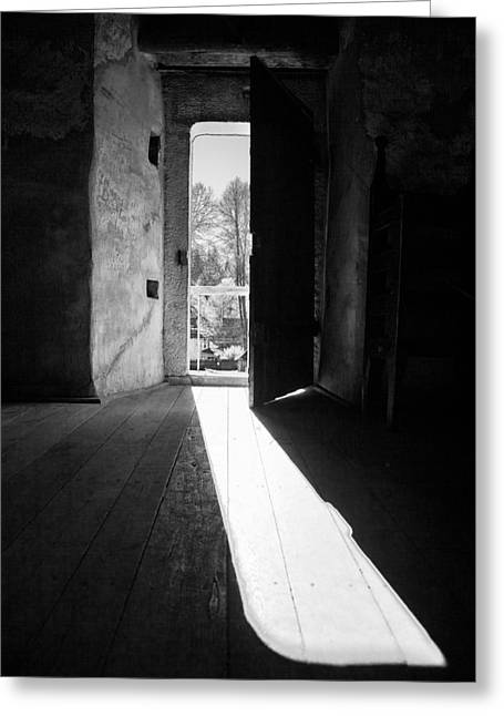 Best Sellers -  - Light And Dark Greeting Cards - Open door Greeting Card by Gabriela Insuratelu