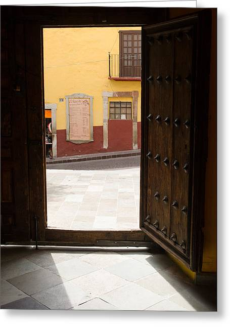 Open Door Looking Out Greeting Card by Rob Huntley
