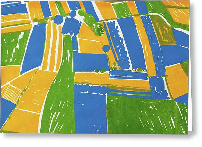 Open Field Yellow Greeting Card