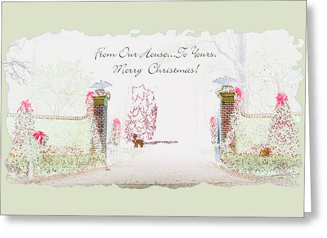 Greeting Card featuring the digital art Open Gate Lighted by Ellen Barron O'Reilly