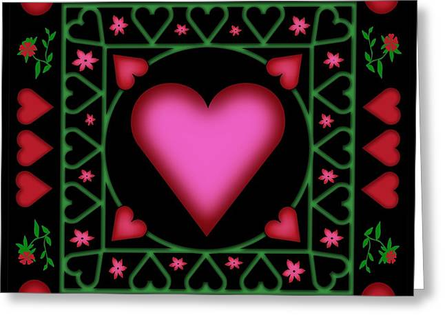 Open Heart Greeting Card by Clare Goodwin