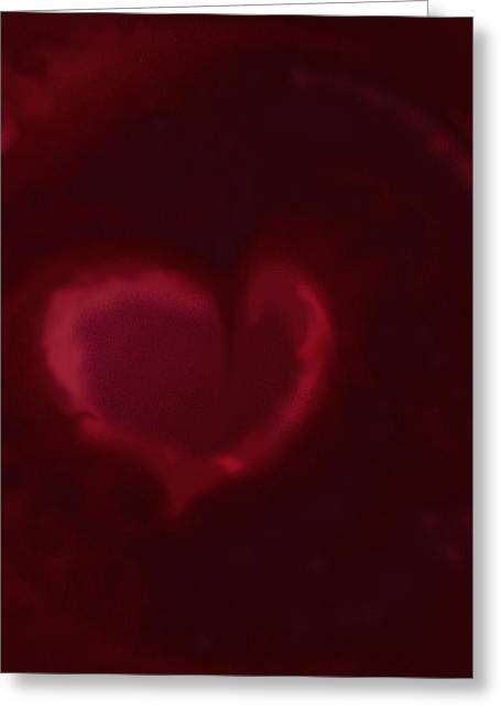 Open Heart Greeting Card by Eileen Shahbazian