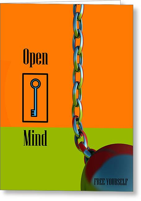 Open Mind Greeting Card by Richard Rizzo