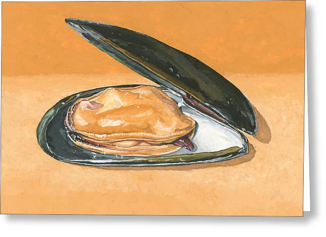 Open Mussel Greeting Card