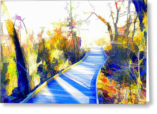 Open Pathway Meditative Space Greeting Card