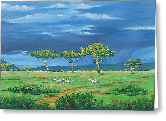 Open Plains Greeting Card by Deon West