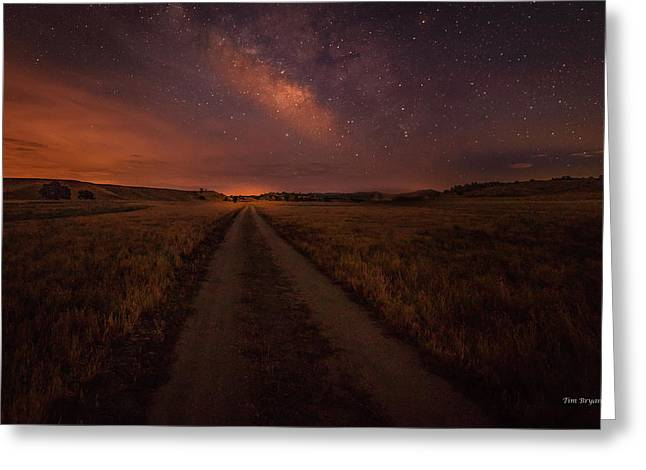 Greeting Card featuring the photograph Open Range by Tim Bryan