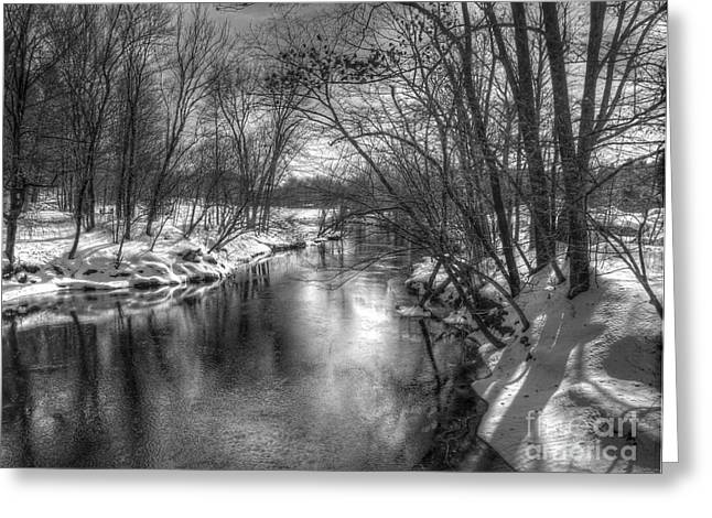 Open River Greeting Card by Betsy Zimmerli