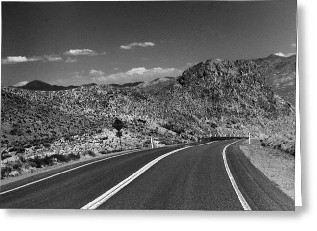 Open Road - Nevada Greeting Card by Ann Tracy