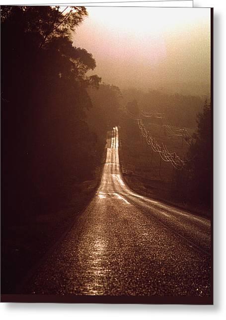 Open Road Greeting Card by David Halperin