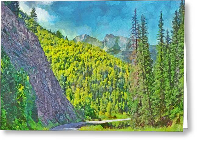 Open Road In The Colorado Rocky Mountains Greeting Card