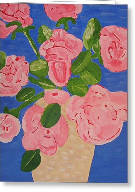 Open Roses I Greeting Card by Olivia  M Dickerson