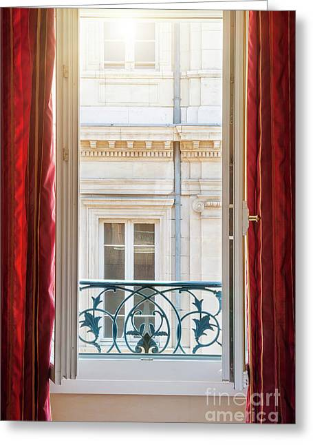 Open Window In Toulouse Greeting Card
