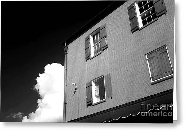 Open Windows In The Quarter Infrared Greeting Card