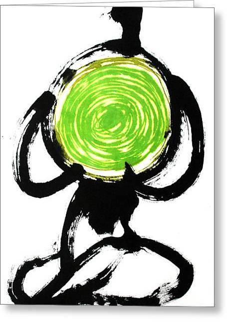 Yoga Drawings Greeting Cards - Open your Heart Greeting Card by Jinhyeok Lee