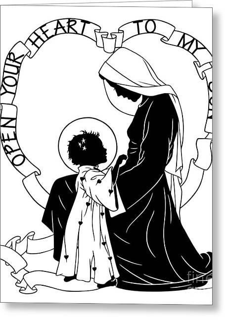 Open Your Heart To My Son - Version 1 - Dpoy1h Greeting Card