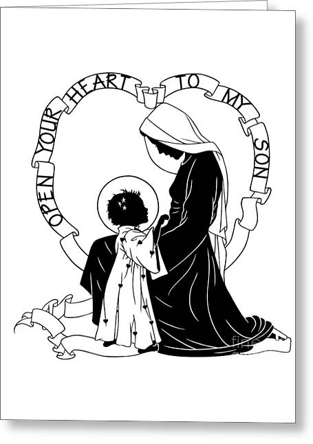 Open Your Heart To My Son - Version 1 - Dpoy1h Greeting Card by Dan Paulos