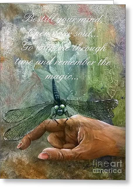 Open Your Soul 2 Greeting Card by Angie Sellars