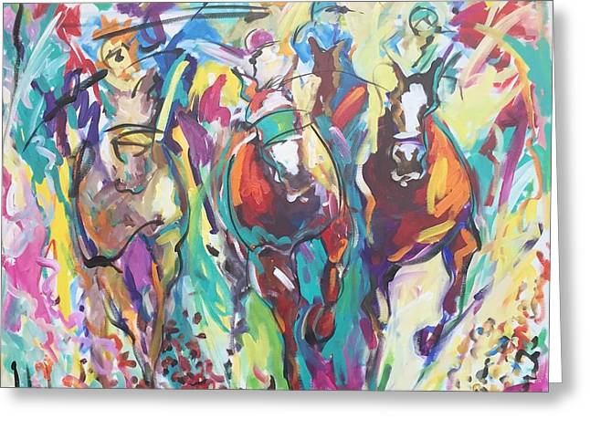 Opening Day In Del Mar Greeting Card