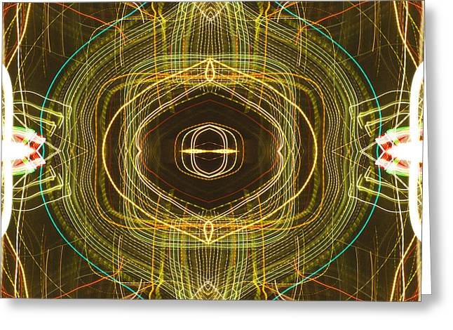 opening of the third eye or A gilded cage photography  Greeting Card by Don Lee