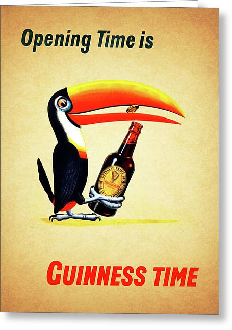 Opening Time Is Guinness Time Greeting Card by Mark Rogan