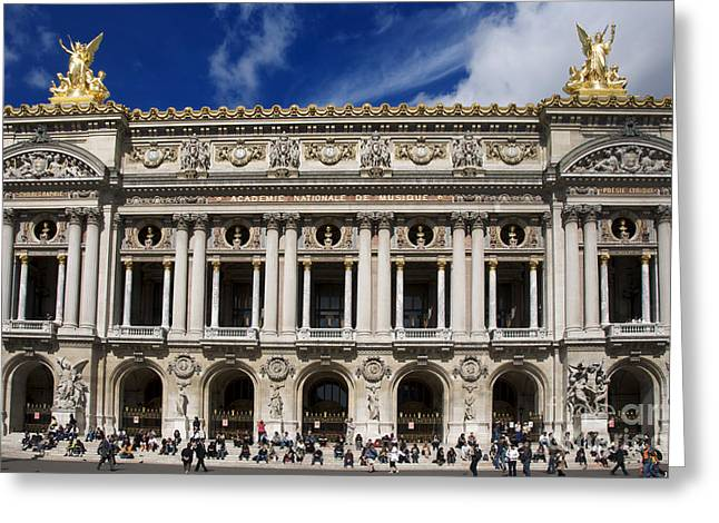 Facades Greeting Cards - Opera Garnier. Paris. France Greeting Card by Bernard Jaubert