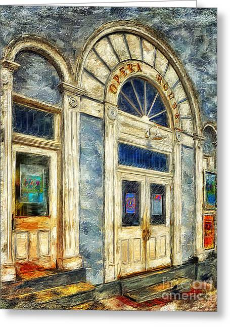 Opera House At Shepherdstown Greeting Card