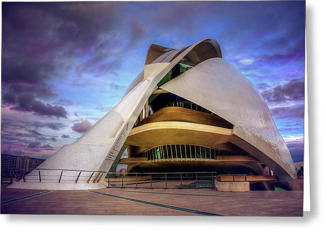 Opera House Valencia  Greeting Card