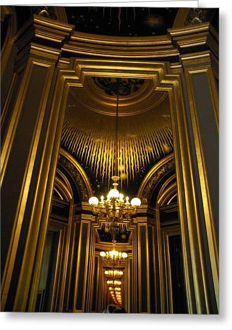 Opera Mirrors II Greeting Card by Louise Fahy
